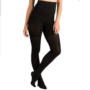 SPANX Tight-End High-Waisted Tights Black NWT D